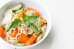 Noodles with vegetable Royalty Free Stock Photography