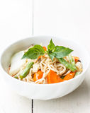 Noodles with vegetable Stock Image