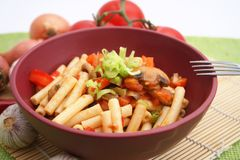 Noodles with vegetables Royalty Free Stock Images
