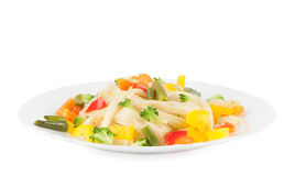 Noodles with vegetables Stock Images