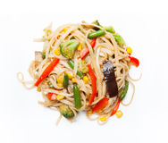 Noodles with vegetables Stock Photo