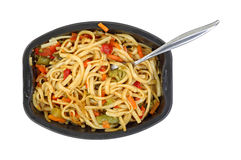 Noodles Vegetables Microwave Meal Royalty Free Stock Photo