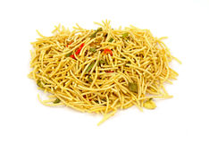 Noodles Vegetables Seasoning Mix Overhead View Stock Photography