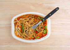 Noodles and vegetables TV dinner Stock Photos