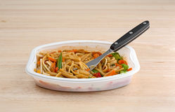 Noodles and vegetables TV dinner Stock Images