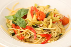 Noodles and vegetables Royalty Free Stock Photography