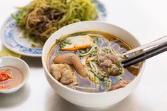 Noodles - Vietnamese cuisine. With the name Bun Bo Hue Stock Images