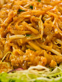 Noodles with wheat sprouts - Thai food - pad thai Royalty Free Stock Photography