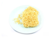 Noodles on white background. Noodles isolated on white background Stock Photos