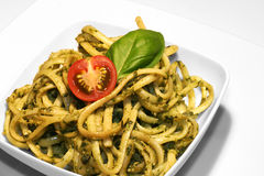 Noodles With Pesto Stock Images