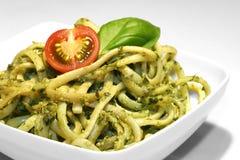Noodles With Pesto Royalty Free Stock Photos