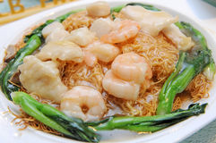Noodles With Prawns Royalty Free Stock Image
