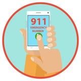Noodoproep aan 911 Royalty-vrije Stock Foto