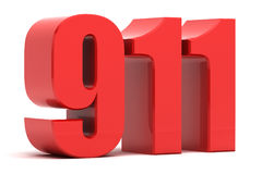 911 noodoproep 3d tekst Stock Afbeelding