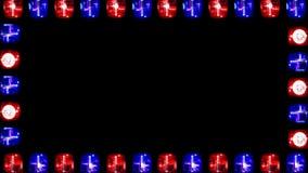 Noodsituatie licht kader stock video