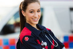 Noodsituatie medische technicus Stock Foto