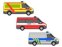 Noodsituatieauto's vector illustratie