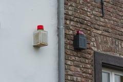 Noodsituatielicht, signaallicht van een alarmsysteem Royalty-vrije Stock Foto's