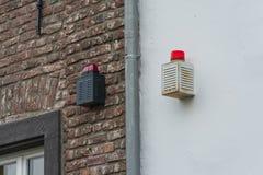 Noodsituatielicht, signaallicht van een alarmsysteem Stock Fotografie