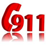 911 noodsituatiesymbool stock illustratie
