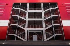 Nooduitgang van winkelcomplex stock afbeeldingen