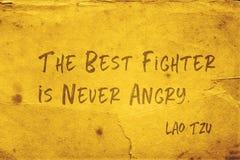 Nooit boos Lao Tzu royalty-vrije stock afbeelding