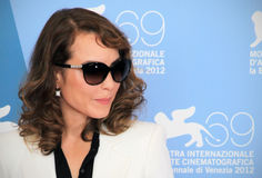 Noomi Rapace. With sun glasses poses for photographers at 69th Venice Film Festival on September 8, 2012 in Venice, Italy Stock Photos