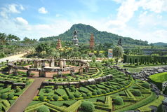 Noon. Some picture from top of the view at Nongnutch Park Thailand Royalty Free Stock Image