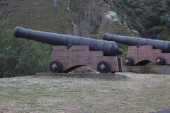 Noon Cannons. Cape Town Historical Noon Guns royalty free stock photo