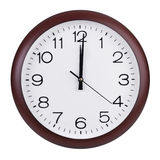 Noon on the dial of the round clock. Noon on the dial of the large round clock Stock Images