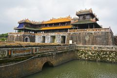 Noon Gate. One of the entrances to the Imperial City in Hue, Vietnam royalty free stock photos