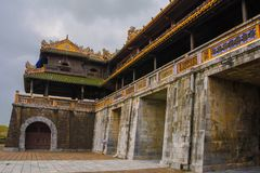 Noon Gate. One of the entrances to the Imperial City in Hue, Vietnam stock photo