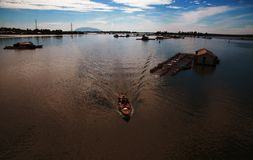 Noon on La Nga river. Captured at noon time, from La Nga bridge in Nai province, Viet nam stock photos