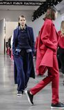 Noon by Noor FW 2018. New York, NY, USA - February 8, 2018: Models walk runway for the Noon by Noor Fall/Winter 2018 runway show during New York Fashion Week at royalty free stock image