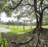 Noon view of Governor-General Akashi Motojiro's Cemetery Former Site. At Taipei, Taiwan stock photo