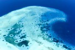 Noonu环礁的盐水湖 库存照片