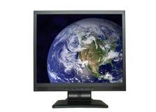 Noord-Amerika in LCD het scherm Stock Afbeeldingen