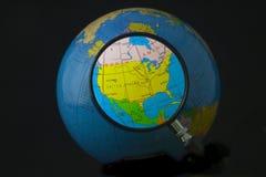 Noord-Amerika in nadruk Stock Afbeeldingen