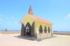 Noord Aruba ` s Alto Vista Chapel Royalty-vrije Stock Foto's