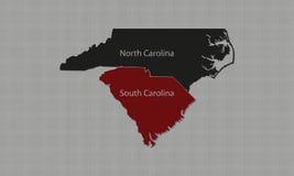 Noord-Carolina & Zuid-Carolina stock illustratie