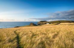 Noord-Cornwall kust stock foto