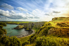 Noord-Ierland clifftop royalty-vrije stock afbeeldingen