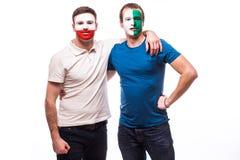 Noord-Ierland versus het egual spel van Polen op witte achtergrond Royalty-vrije Stock Afbeeldingen