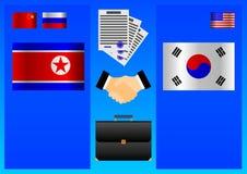 Noord-Korea en de relaties van Zuid-Korea royalty-vrije illustratie