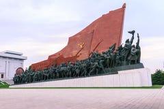 Noord-Korea, Pyongyang, Mansudae-Heuvel Royalty-vrije Stock Foto