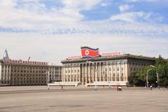 NOORD-KOREA, PYONGYANG - SEPTEMBER 26, 2017: Kim Il Sung Square Stock Afbeeldingen