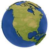 Noordamerikaans continent ter wereld Stock Foto