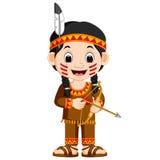 Noordamerikaans Indisch meisje vector illustratie