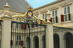 Noordeinde Palace is one of the three official palaces of the Du Royalty Free Stock Photography
