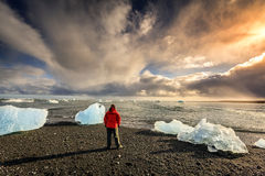 Noordelijk Atlantisch strand Royalty-vrije Stock Foto